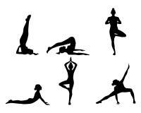 Übendes Yoga des Mädchens lizenzfreie abbildung