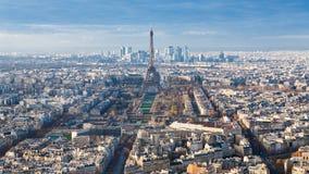 Über Ansicht des Eiffelturms in Paris-Stadtbild Stockbilder