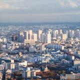Über Ansicht des lebenden Bezirkes in Paris-Stadt Lizenzfreie Stockbilder