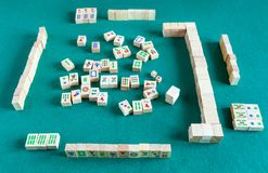 Ãœber Ansicht von gameboard von mahjong Spiel lizenzfreie stockfotos