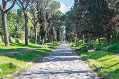 Über Appia Antica Rom Stockfotografie