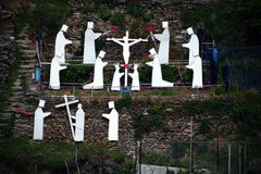 Über Crucis in Manarola, Italien Stockfoto