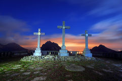 Über crucis in Urkiola Lizenzfreies Stockbild