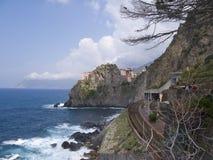 ?Über dell'Amore? in Cinque Terre, Italien. Stockfotos