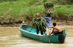 Über dem Fluss Lizenzfreie Stockfotografie