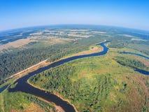 Über dem Fluss Mologa Lizenzfreie Stockbilder