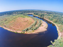 Über dem Fluss Mologa Lizenzfreie Stockfotos