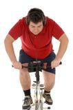 Über dem Gewichtmänner Radfahren Stockbild
