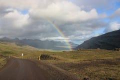 Über dem Regenbogen stockbild