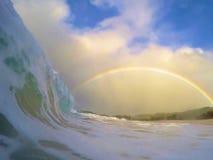 Über dem Regenbogen lizenzfreies stockfoto