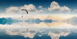 Über dem See Stockbild