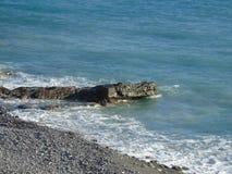 Über dem See von D 'Orta im Winter lizenzfreie stockfotografie