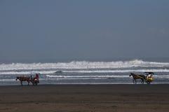 Über dem Strand Lizenzfreies Stockfoto