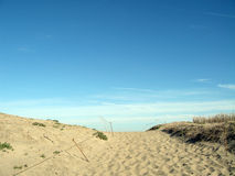 Über dem Strand hinaus Stockfotos