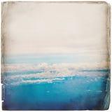 Über dem Wolkenhintergrund Lizenzfreies Stockbild