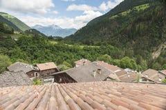 Über den Dachspitzen von St. Pankraz Stockfoto