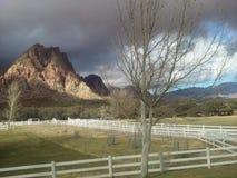 Über den Lichtern hinaus: Ein Wintertag außerhalb Las Vegass Stockbilder