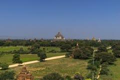Über den Tempeln von Bagan Stockbilder