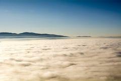 Über den Wolken können Sie Neverland finden lizenzfreies stockbild