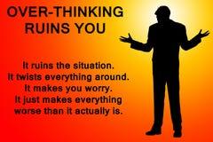 Über-Denken, Sie ruinierend vektor abbildung