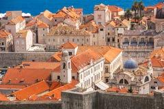 Über der alten Stadt von Dubrovnik stockfoto