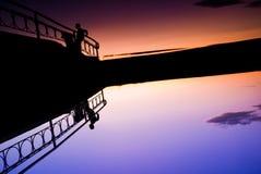 Über der Brücke - Reflexion Lizenzfreie Stockfotos