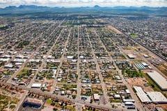Über der Grenzwand bei Douglas, Arizona stockbild