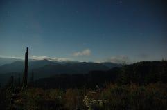 Über der Landschaft Stockfotos