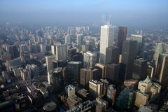 Über der Stadt Lizenzfreie Stockfotos