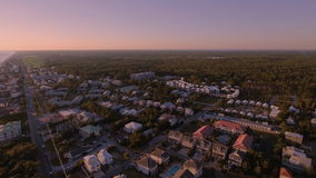 Über die Strände des Südstrandes fliegen, Miami, Florida Lizenzfreie Stockfotos
