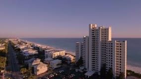 Über die Strände des Südstrandes fliegen, Miami, Florida Stockfotos