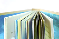 Über einem Buch Stockfotografie