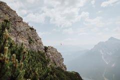 Über Ferrata, das in Österreich klettert Stockbilder