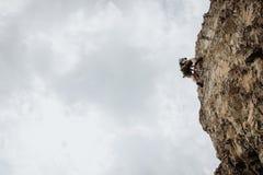 Über Ferrata, das in Österreich klettert Stockbild