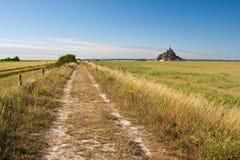 Über französischen Feldern Stockfoto