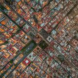 Über Guadalajara-Stadtzentrum lizenzfreie stockfotografie