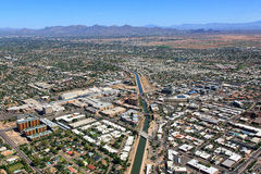 Über im Stadtzentrum gelegenem Scottsdale Arizona stockbild