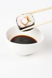 Über köstliches makizushi setzen Lizenzfreies Stockbild