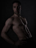 Über Mann 40 mit großem Körper Stockfoto