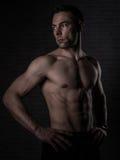 Über Mann 40 mit großem Körper Lizenzfreies Stockfoto
