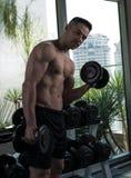 Über Mann 40 mit großem Körper Lizenzfreie Stockfotos