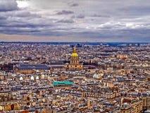 Über Paris Stockbild