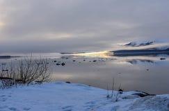 Über Turnigan-Arm heraus schauen, Alaska lizenzfreie stockbilder