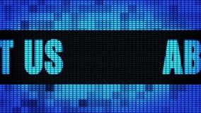 Über uns Wand-Anzeigetafel-Zeichen-Brett Front Text Scrollings LED stock footage