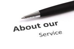 Über unseren Service Lizenzfreie Stockfotos