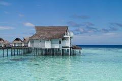 Über Wasser-Bungalow Malediven Stockbilder