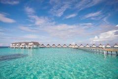 Über Wasser-Bungalow Malediven Stockfotografie
