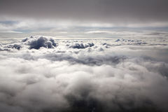 Über Wolken Stockbild
