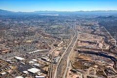 Über zwischenstaatlichen 10 und Tucson Arizona Stockbild
