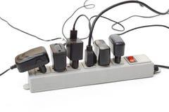 Überbeanspruchung der Stange des elektrischen Stroms Stockbilder